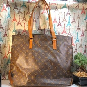 Authentic Louis Vuitton Monogram Cabas Mezzo Tote